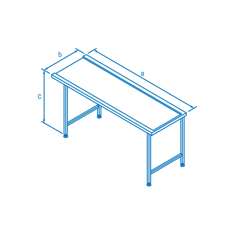 1500mm Right Hand Entry & Exit Table for Classeq Warewashers